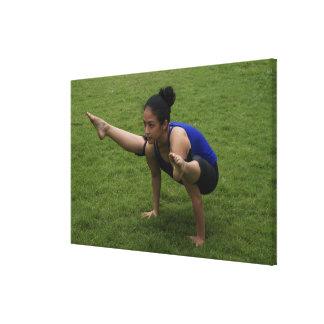 Arm balance gallery wrap canvas