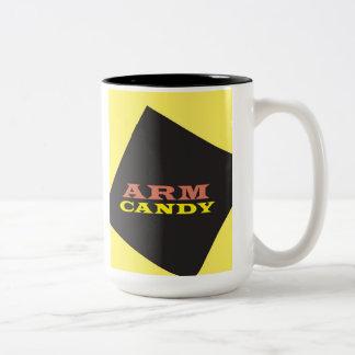 """Arm Candy"" Two-Tone Coffee Mug"