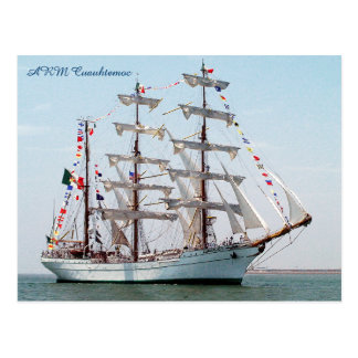 ARM Cuauhtemoc Mexican Navy Tall Ship Post Card