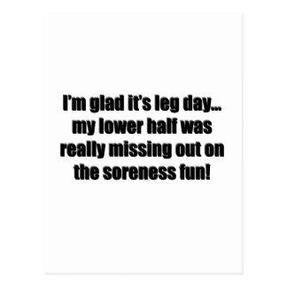 Arm Day - Soreness Fun Postcard