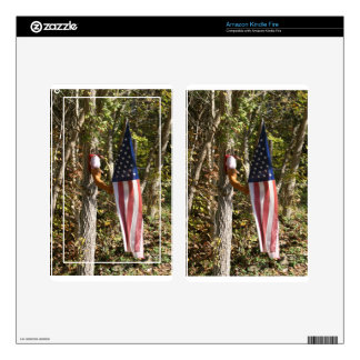 Arm Flag Holder Fun Americana American Kindle Fire Skin