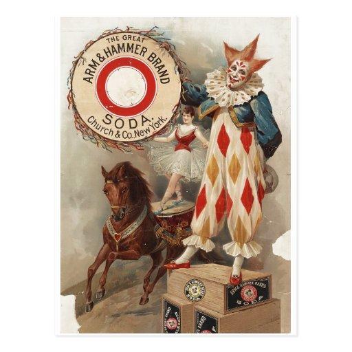 Arm & Hammer Brand Soda Ad Poster 1900 Postcard