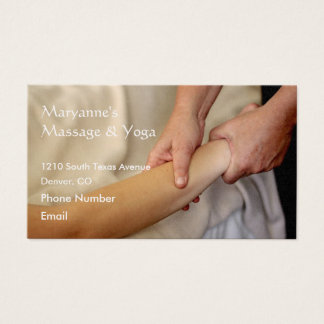 Arm Massage Photo Business Card