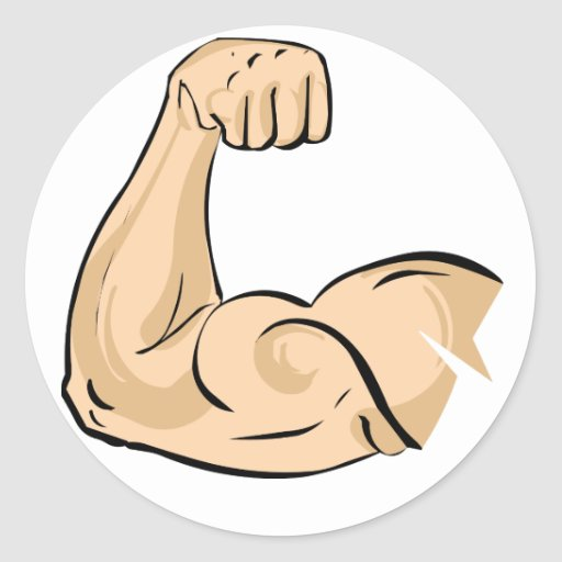 Flexed Arm Silhouette ... Flexing Bicep Drawing