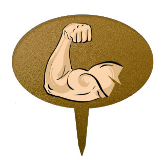 arm muscles cake topper