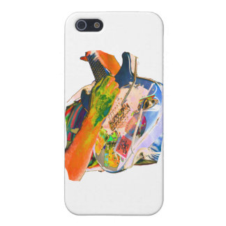 Arm Playing Guitar Blue Psychadelic Colors Square iPhone 5 Case