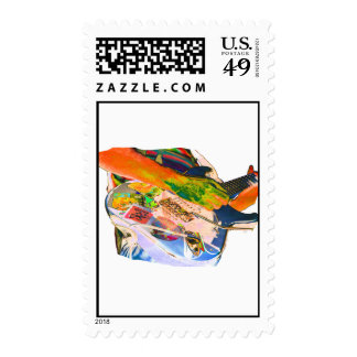 Arm Playing Guitar Blue Psychadelic Colors Square Postage Stamps