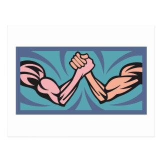 Arm printings poor wrestling postcard