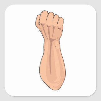Arm Raised Clenched Fist Pump 2 Sticker