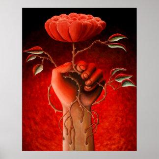Arm Rose Poster