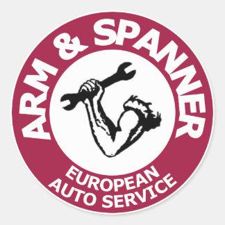 Arm & Spanner Sticker
