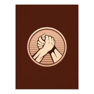 Arm wrestling Bronze 6.5x8.75 Paper Invitation Card