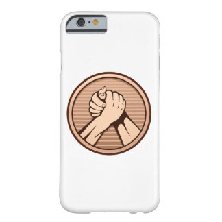 Arm wrestling Bronze Barely There iPhone 6 Case