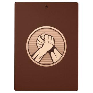 Arm wrestling Bronze Clipboard