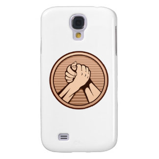 Arm wrestling Bronze Galaxy S4 Case