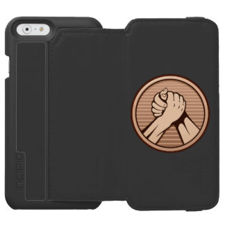 Arm wrestling Bronze Incipio Watson™ iPhone 6 Wallet Case
