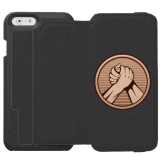 Arm wrestling Bronze iPhone 6/6s Wallet Case