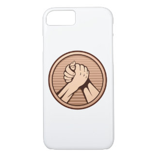 Arm wrestling Bronze iPhone 8/7 Case