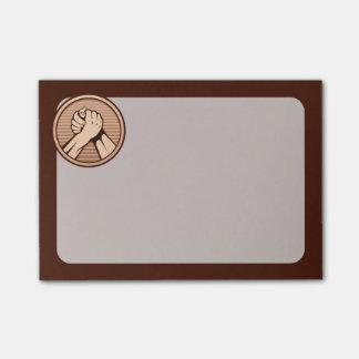 Arm wrestling Bronze Post-it Notes