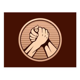 Arm wrestling Bronze Postcard