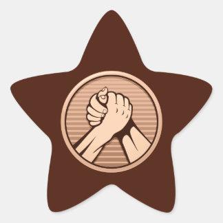 Arm wrestling Bronze Star Sticker