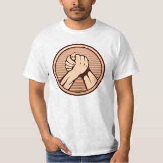 Arm wrestling Bronze T-shirts