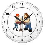 Arm Wrestling Clock
