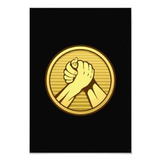 Arm wrestling Gold 3.5x5 Paper Invitation Card