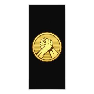 Arm wrestling Gold 4x9.25 Paper Invitation Card