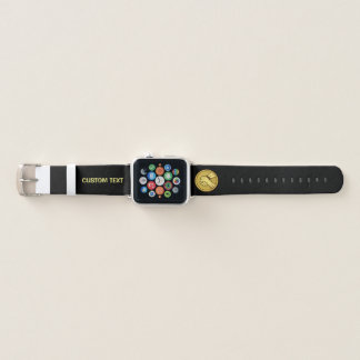 Arm wrestling Gold Apple Watch Band