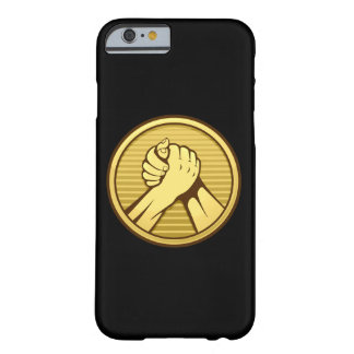 Arm wrestling Gold Barely There iPhone 6 Case