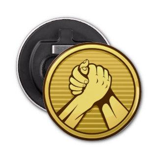 Arm wrestling Gold Bottle Opener
