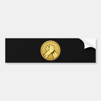 Arm wrestling Gold Bumper Sticker