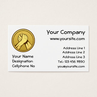 Arm wrestling Gold Business Card