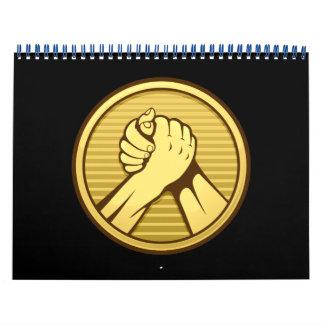 Arm wrestling Gold Calendar