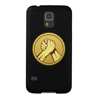 Arm wrestling Gold Case For Galaxy S5