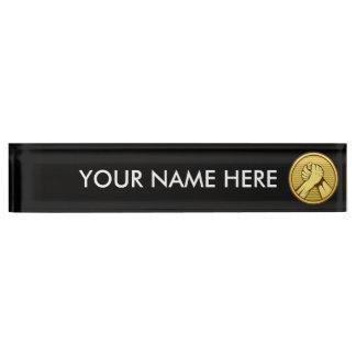 Arm wrestling Gold Desk Name Plate