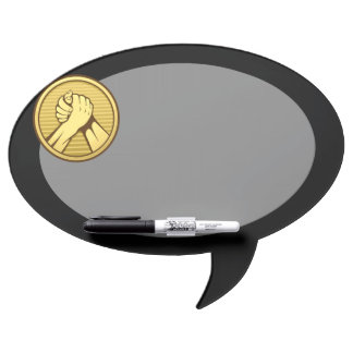 Arm wrestling Gold Dry-Erase Board