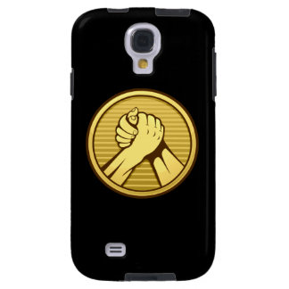 Arm wrestling Gold Galaxy S4 Case