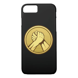 Arm wrestling Gold iPhone 8/7 Case