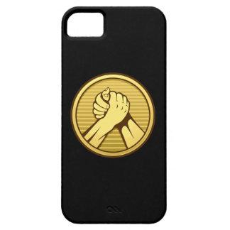 Arm wrestling Gold iPhone SE/5/5s Case