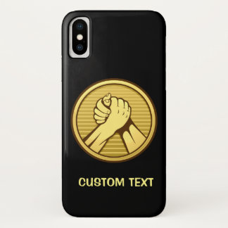 Arm wrestling Gold iPhone X Case