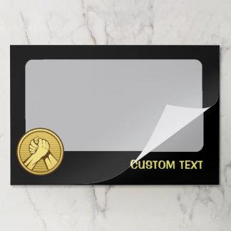 Arm wrestling Gold Paper Pad