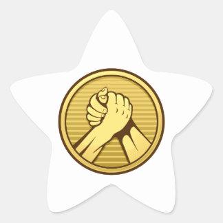 Arm wrestling Gold Star Sticker