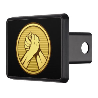 Arm wrestling Gold Trailer Hitch Cover