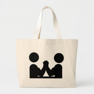 arm wrestling icon canvas bag