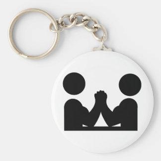 arm wrestling icon keychain