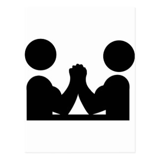 arm wrestling icon postcard