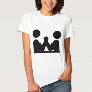 arm wrestling icon t shirt