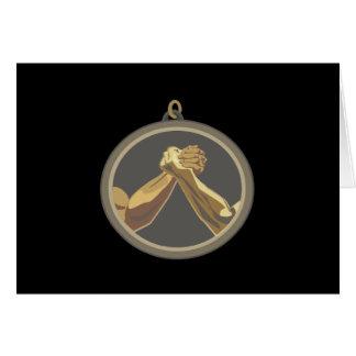Arm Wrestling Medal Greeting Card